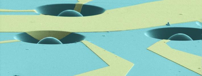De qubits waarmee Ronald Hanson werkt, functioneren op een schaal van enkele micrometers. (Bron: TU Delft)